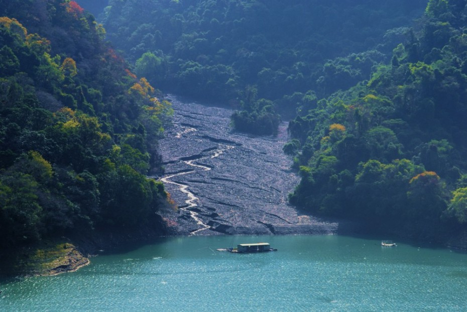 gilbert delta in wushe reservoir